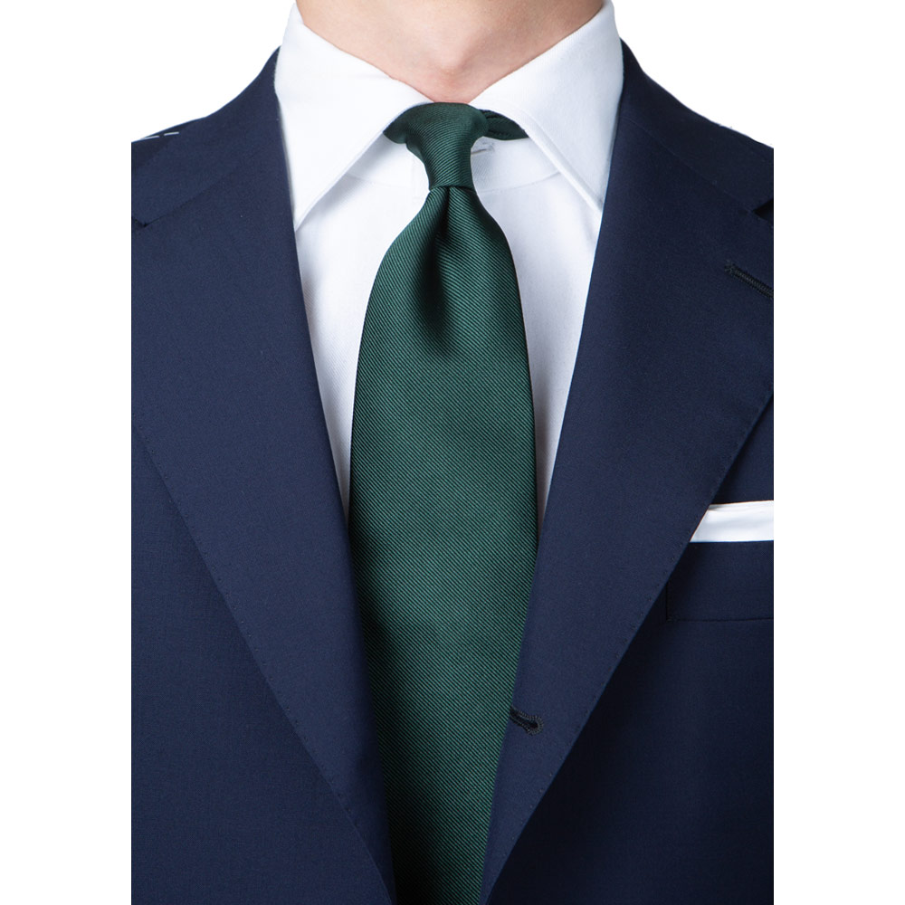 KING TWILL SOLID FOREST GREEN