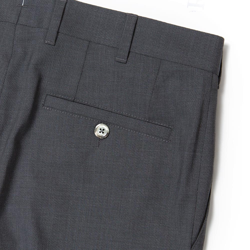 TOMBOLINI CHARCOAL GRAY WOOL TROUSERS
