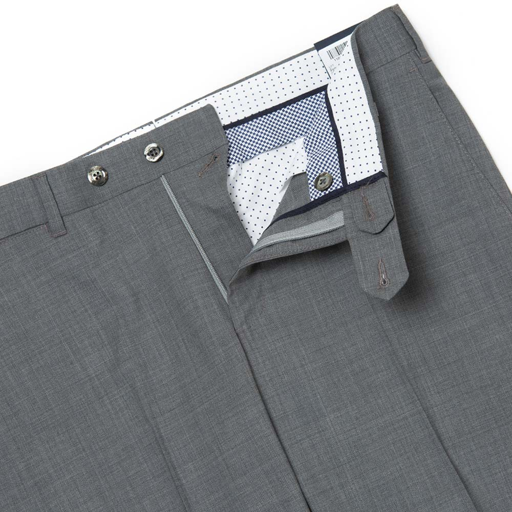 TOMBOLINI LIGHT GRAY WOOL TROUSERS