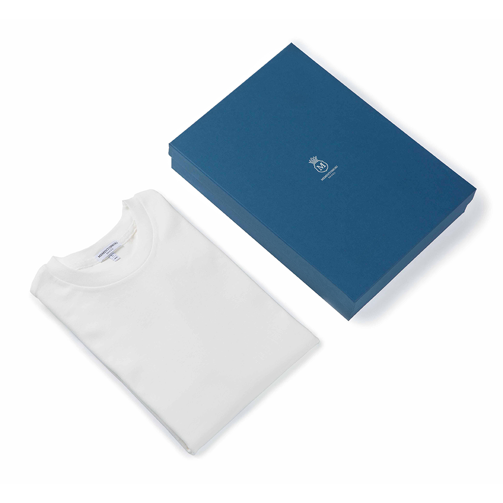 SOFT COTTON T-SHIRT IN WHITE