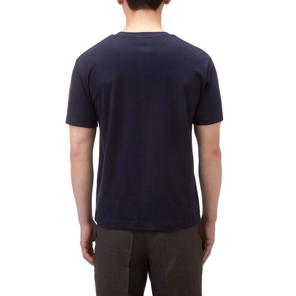 SOFT COTTON T-SHIRT IN NAVY
