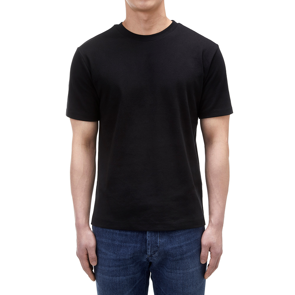 SOFT COTTON T-SHIRT IN BLACK