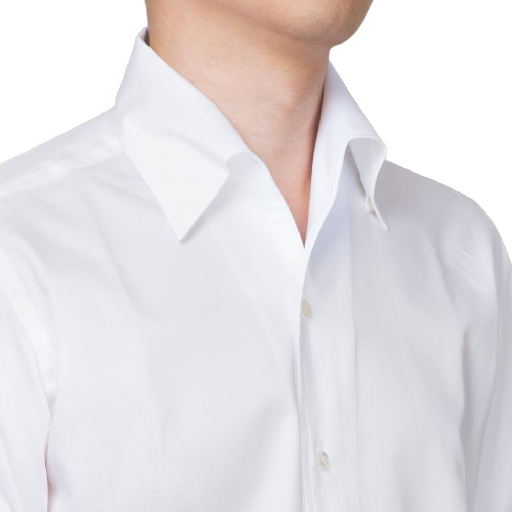 WHITE ONE PIECE COLLAR SHIRTS