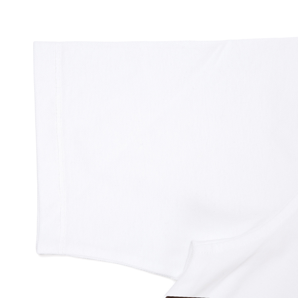WING COLLAR POLO SHIRTS WHITE