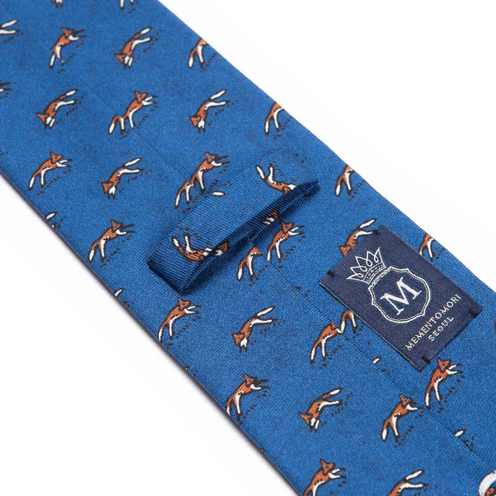 RUNNING FOX TIE IN BLUE