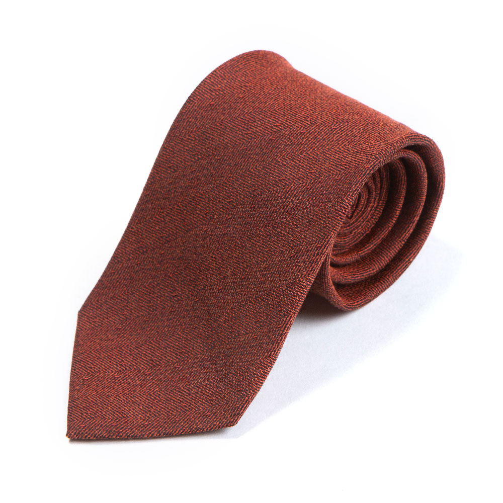 HERRINGBONE SOLID DEEP ORANGE