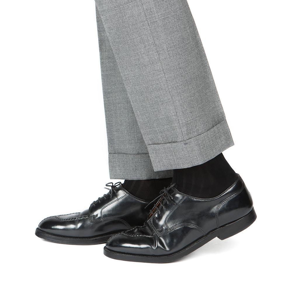[넥타이 + 양말 SET] 실크 바스킷 스트라이프 네이비 브라운 넥타이