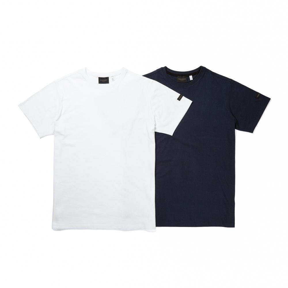 모리 솔리드 브릴리언트 화이트 반팔 티셔츠