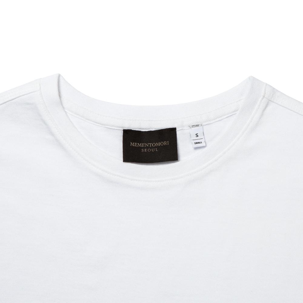 모리 심볼 포켓 브릴리언트 화이트 반팔 티셔츠
