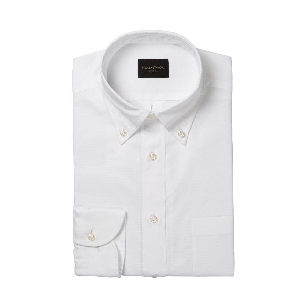 [조경준의 'OFF'] 화이트 옥스포드 버튼다운 칼라 셔츠