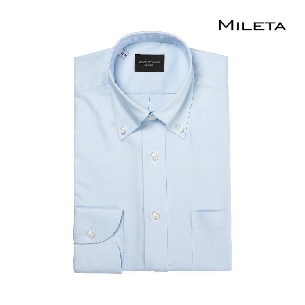 메멘토모리 밀레타 아이스 블루 옥스포드 버튼 다운 셔츠