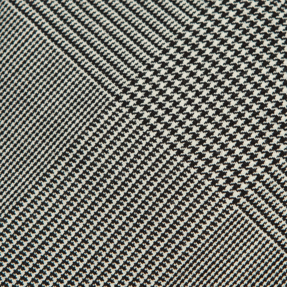 메멘토모리 콜롬보 글렌체크 패턴 화이트 블랙 울 넥타이