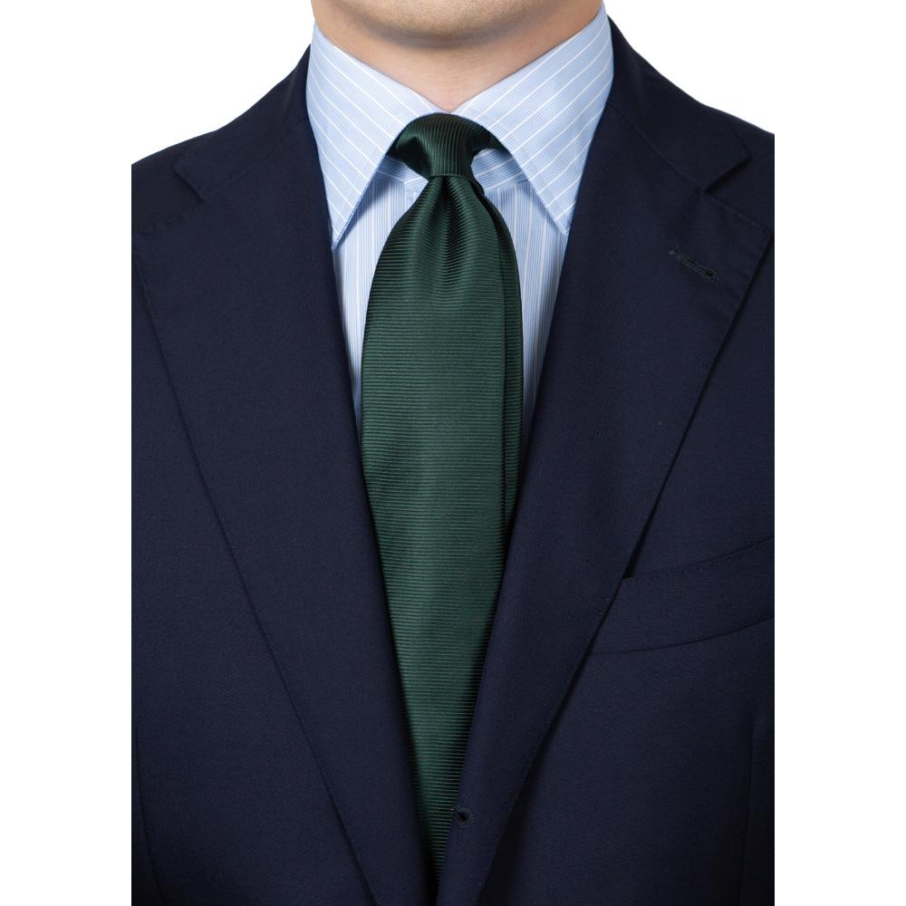 [넥타이 증정] 메멘토모리 밀레타 스카이 블루 리버스 스트라이프 포플린 스프레드 카라 셔츠